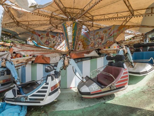 These rides haven't seen visitors since 2006. Picture: Romain Veillon